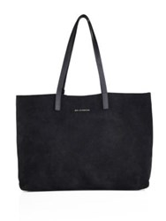 Want Les Essentiels Strauss Horizontal Suede Tote Black
