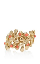 Oscar De La Renta Coral Sea Tangle Resin Cuff Red