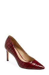 Women's Via Spiga 'Carola' Pointy Toe Pump Merlot
