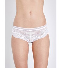 Triumph Beauty Full Darling Lace And Mesh Hipster Briefs White