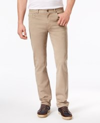 Dkny Men's Relaxed Straight Fit Stretch Twill Pants Fallen Rock