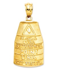 Macy's 14K Gold Charm Southern Most Point Usa Key West Charm