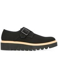 Stella Mccartney Chunky Sole Monk Shoes Black