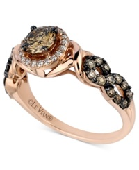 Le Vian Chocolate And White Diamond Ring 9 10 Ct. T.W. In 14K Rose Gold