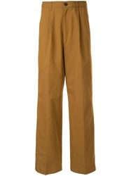 Loveless Loose Fit Poplin Trousers Brown