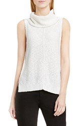 Vince Camuto Women's Two By Sleeveless Cowl Neck Sweater New Ivory