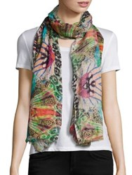 Bindya Abstract Animal Print Scarf Multi