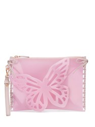 Sophia Webster Flossy Butterfly Clutch Pink