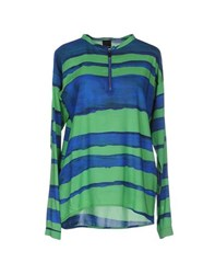 Pinko Black Shirts Blouses Women Green