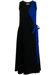 Mulberry Contrast Panel Wrap Dress 60
