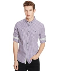 Kenneth Cole Reaction Long Sleeve Two Pocket Check Shirt