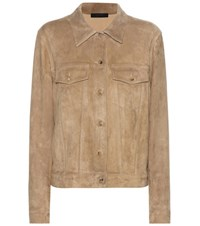 The Row Coltra Suede Jacket Silver