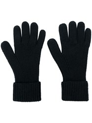 N.Peal Ribbed Gloves Black