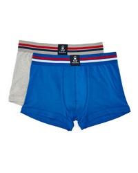 Psycho Bunny Motion Tagless Trunks Two Pack Heather Gray Nautical Blue