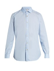 Paul Smith Double Cuff Cotton Poplin Shirt Light Blue