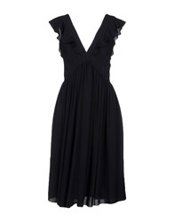 Maison Kitsune Knee Length Dresses Dark Blue