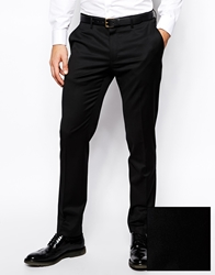 Asos Skinny Fit Suit Pants With Tipping Black