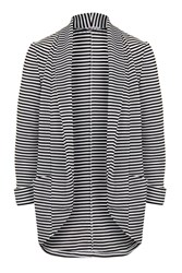 Stripey Soft Blazer By Wal G Black