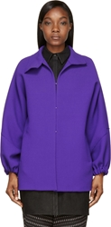 Cnc Costume National Purple Wool Crepe Jacket