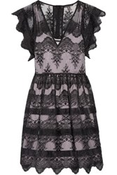 Marissa Webb Kallisti Embroidered Organza Mini Dress Black
