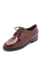 Rachel Comey Avon Perforated Oxfords Wine
