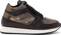 Krisvanassche Black And Gray Metallic Running Sneakers