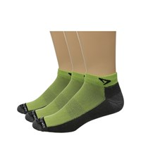 Drymax Sport Lite Trail Running Mini Crew 3 Pack Lime Green Anthracite Crew Cut Socks Shoes