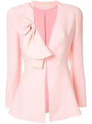 Delpozo Bow Detail Fitted Jacket Pink