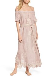 Muche Et Muchette 'S Daisy Linen Cover Up Dress Dusty Pink
