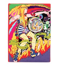 Olympia Le Tan Lucy Book Clutch Multicoloured
