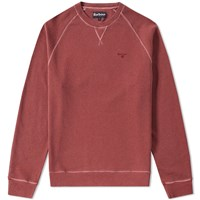 Barbour Garment Dyed Crew Sweat Red