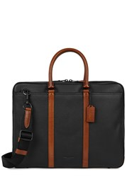 Coach Metropolitan Two Tone Leather Briefcase Black