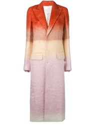Esteban Cortazar Tailored Single Breasted Coat Orange