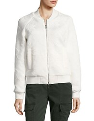 French Connection Hoffman Stitch Bomber Jacket White