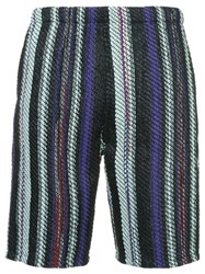 Coohem Striped Tweed Shorts Multicolour