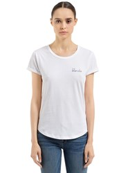 Maison Labiche Blondie Cotton Jersey T Shirt White