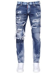 Dsquared 17.5Cm Slim Fit Ripped Denim Jeans