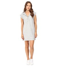 Culture Phit Kallea Lace Up Hoodie Dress Heather Grey Women's Dress Gray