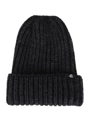 Paul Smith Grey Wool Ribbed Hat