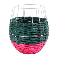 Serax Marie Fluo Rounded Basket Green Pink