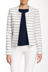 Dex Striped Open Front Blazer Multi