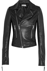 Balenciaga Textured Leather Biker Jacket