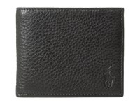 Polo Ralph Lauren Pebble Leather Billfold Black Bill Fold Wallet