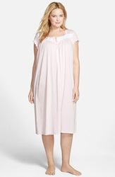 Eileen West Cap Sleeve Waltz Nightgown Plus Size Rose