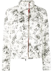 Moncler Gamme Rouge Botanical Print Jacket Women Polyester Feather Duck Feathers 3 White