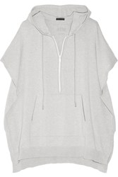 Atm Anthony Thomas Melillo Cotton Blend Hooded Top Light Gray