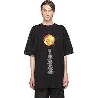 Vetements Black Venus Planet Number T Shirt