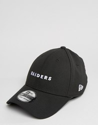 New Era 39Thirty Cap Fitted Oakland Raiders Black
