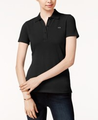 Armani Exchange Short Sleeve Polo Top Black