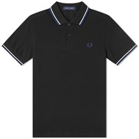 Fred Perry Authentic Twin Tipped Polo Black